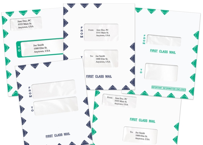 Tax Software Slip Sheet Envelopes